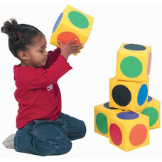 Multicolor Match The Dots Blocks Set