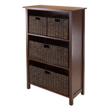 Granville 5-Pc Storage Shelf with 4 Foldable Baskets