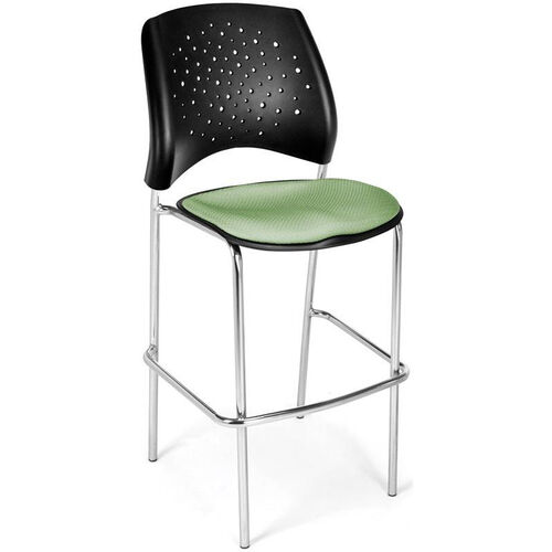 Our Stars Cafe Height Chair with Fabric Seat and Chrome Frame - Sage Green is on sale now.