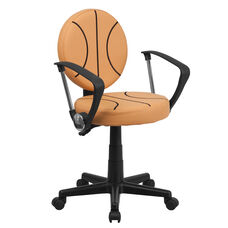 Basketball Swivel Task Office Chair with Arms