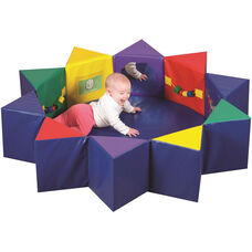 Multi-Colored Multi-Activity Baby Pentagon Play Set