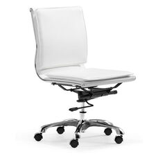 Lider Plus Armless Office Chair in White