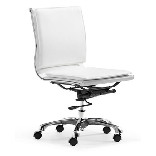 Our Lider Plus Armless Office Chair in White is on sale now.