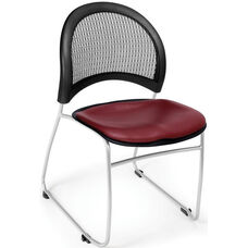 Moon Stack Chair with Vinyl Seat Cushion - Wine