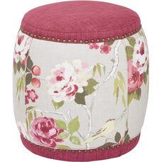 Ave Six Briana Barrel Stool - Berry Fabric
