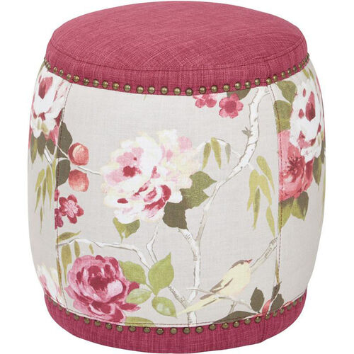 Our Ave Six Briana Barrel Stool - Berry Fabric is on sale now.