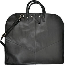 Garment Cover Bag - Faux Leather - Black