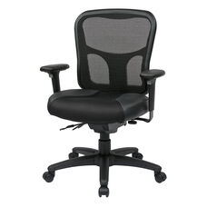 Pro-Line II ProGrid® Mesh Back Managers Chair with Leather and Mesh Seat - Black