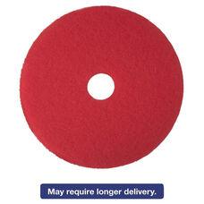 3M Red Buffer Floor Pads 5100 - Low-Speed - 12