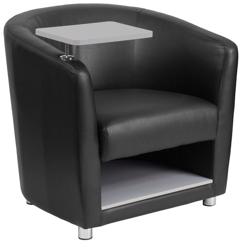 Guest Chair with Tablet Arm, Chrome Legs and Under Seat Storage