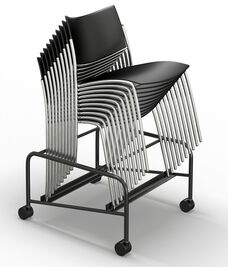 Bistro Chair Trolley - Black