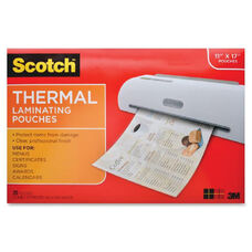 3M Scotch Thermal Laminator Menu Size Pouches - Pack Of 25