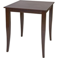 OSP Designs Jamestown Pub Table with Tapered Legs - Espresso