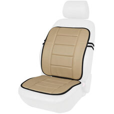 Kool Kooshion Faux Leather Full Seat Cushion - Beige