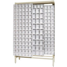 Free Standing Slider System with 52 Bins - Ivory