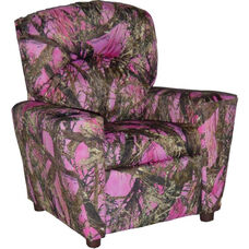 Kids Home Theatre Recliner with Cupholder - True West Pink