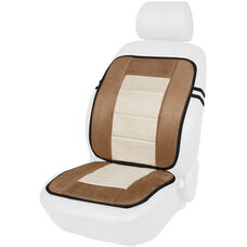 Kool Kooshion Microsuede Full Seat Cushion - Tan and Beige
