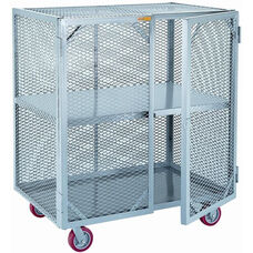 Mobile Storage Locker With 1 Center Shelf - 24