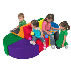 SoftZone® 8 Piece Separable Bright Colors Vinyl Covered Foam Sectional