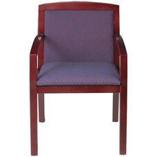 Quick Ship Contempo Fully Upholstered Back Arm Chair