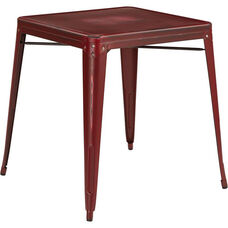 OSP Designs Bristow Antique Metal Table - Antique Red