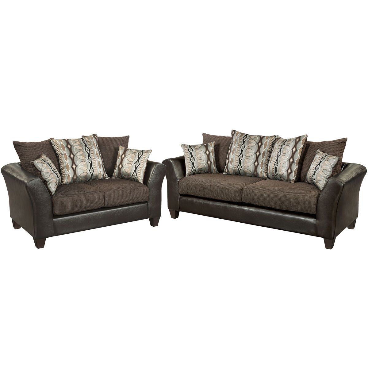 Our Riverstone Rip Sable Chenille Living Room Set Is On Now