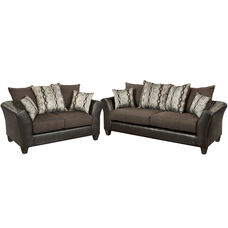 Riverstone Rip Sable Chenille Living Room Set