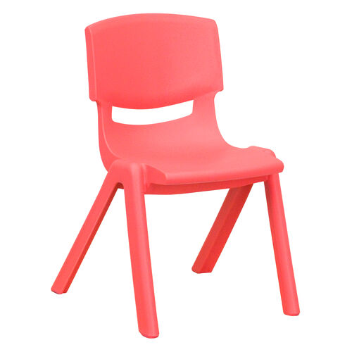 Our Red Plastic Stackable School Chair with 12