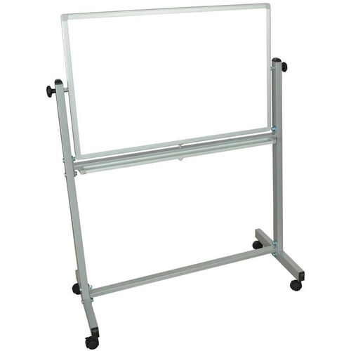 Doubled Sided Aluminum Frame Magnetic Mobile Whiteboard with Marker Tray - 39