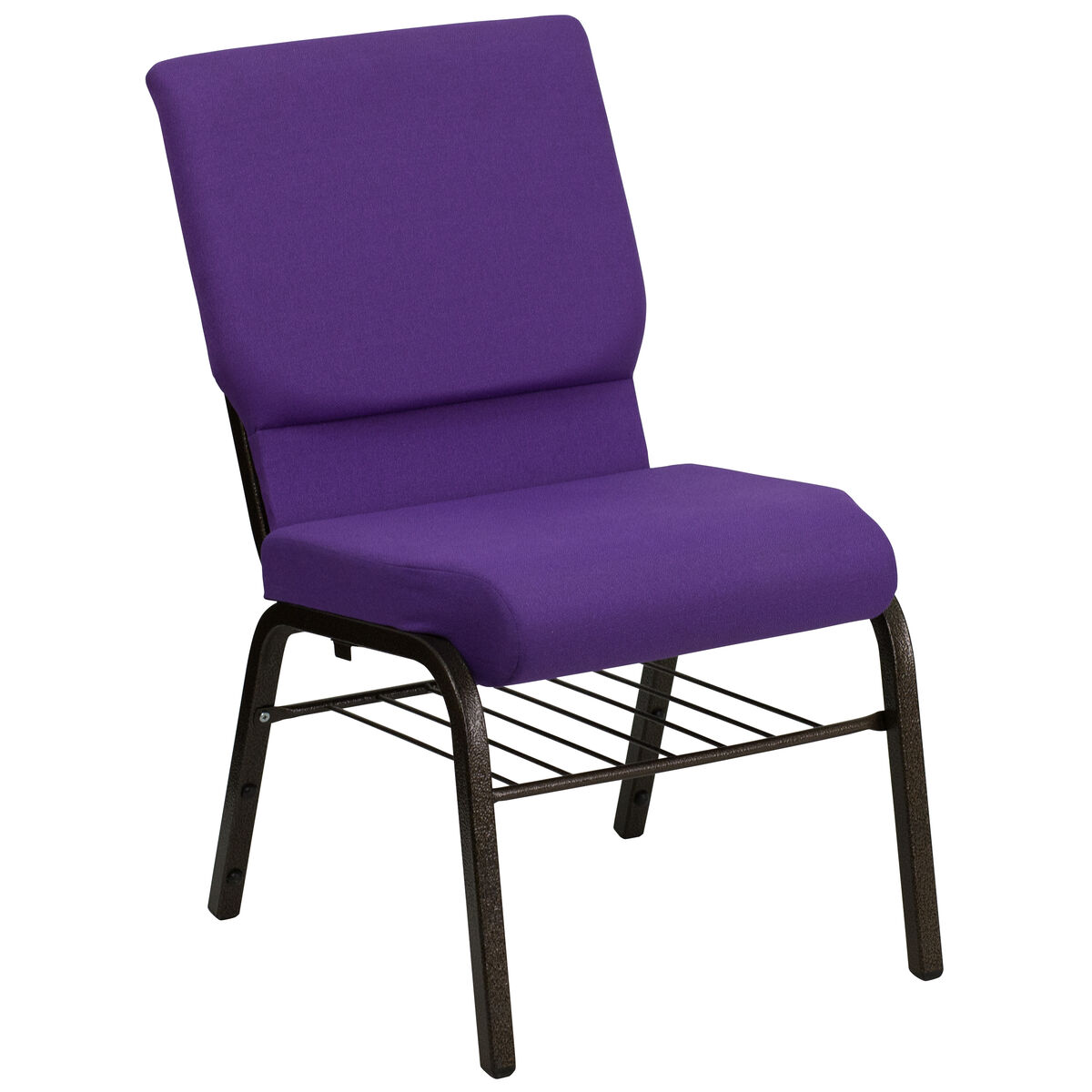 Purple Fabric Church Chair Xu Ch 60096 Pu Bas Gg