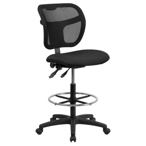 Our Mid-Back Black Mesh Drafting Chair with Back Height Adjustment is on sale now.