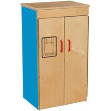 Blueberry Pretend Play Healthy Kids Plywood Refrigerator - Assembled - 20.5