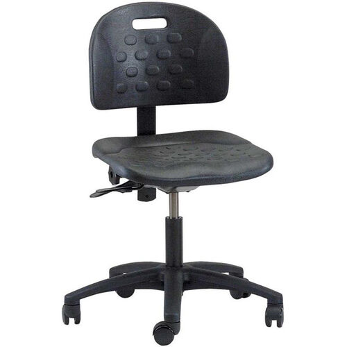 Our Industrial Specialty Black Polyurethane Task Chair with ABS Base and Dual Wheel Casters is on sale now.
