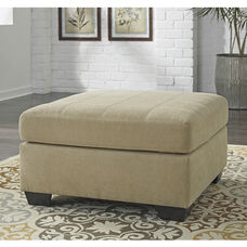 Benchcraft Maier Oversized Accent Ottoman in Cocoa Microfiber