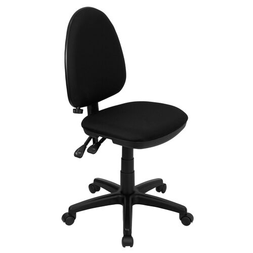 Mid-Back Fabric Multifunction Swivel Ergonomic Task Office Chair with Adjustable Lumbar Support