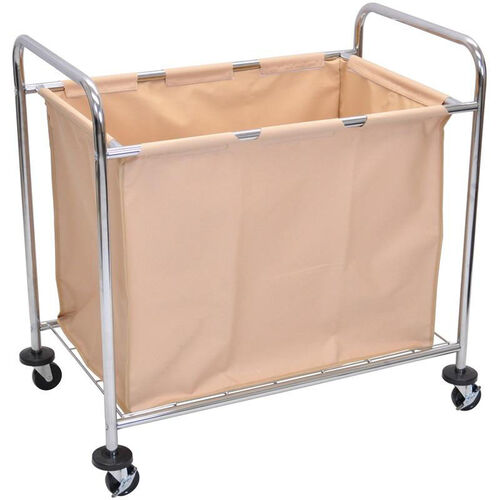 Steel Frame and Canvas Bag Mobile Laundry Cart - 38.5