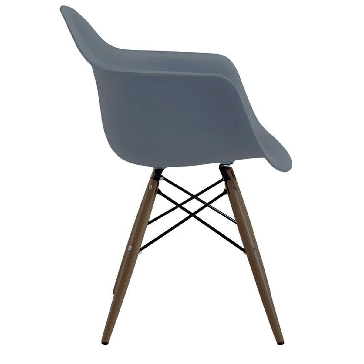Design Lab Mn Trige Mid Century Slate Arm Chair With