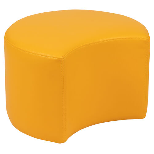 """Our Soft Seating Collaborative Moon for Classrooms and Daycares - 12"""" Seat Height (Yellow) is on sale now."""