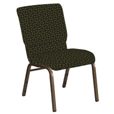 Embroidered 18.5''W Church Chair in Scatter Celtic Fabric - Gold Vein Frame