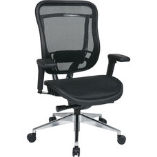 Space Big and Tall Executive High Back Office Chair with Soft Padded Arms with 300 lb. Weight Capacity