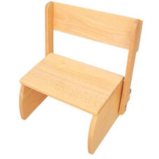 Kids Size Small Sturdy Hardwood Flip Step to Sit Stool - Natural