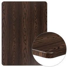 """30"""" x 42"""" Rectangular Rustic Wood Laminate Table Top"""