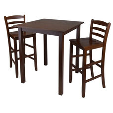 Parkland 3-Pc High Table Set with 2 Ladder Back Chairs