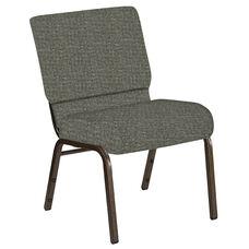 21''W Church Chair in Interweave Slate Fabric - Gold Vein Frame