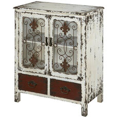 Parcel Two Drawer and Two Door Console - Multi-Colored Distressed