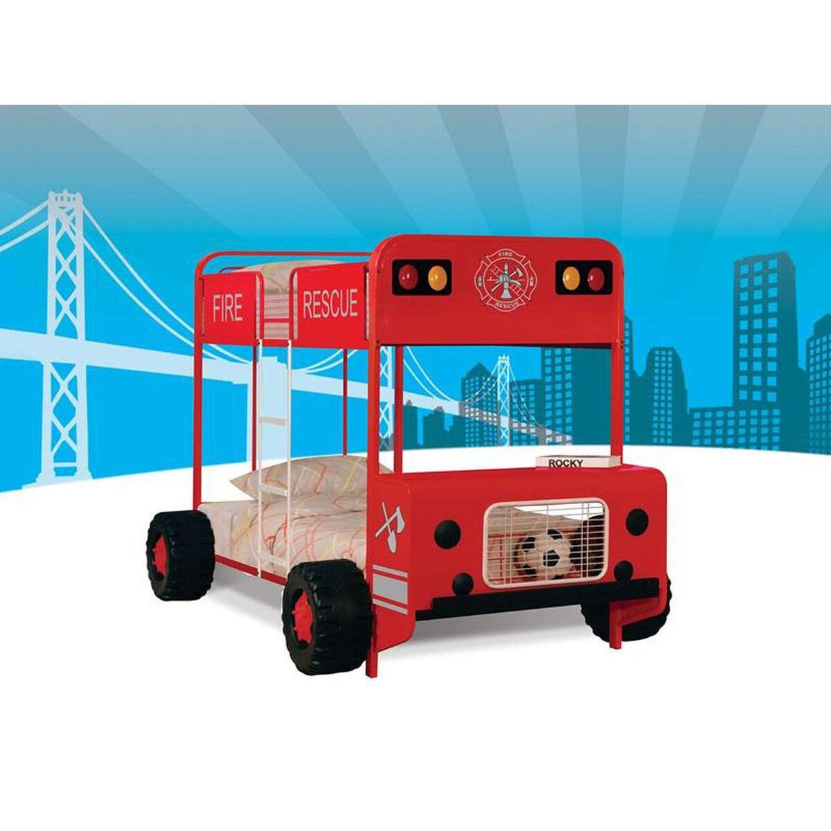 Fire Truck Bunk Bed Twin Over Twin 37580 Bizchair Com