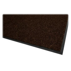 Genuine Joe Dual Rib Carpet Surface - Vinyl Backing - Chocolate