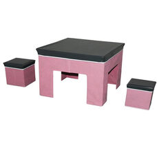Convertible 3 Piece Juvenile Play Set - Pink Multi Color