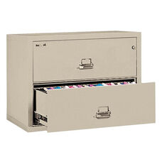 FireKing® Two-Drawer Lateral File - 31-1/8w x 22-1/8d - UL Listed 350° - Ltr/Legal - Parchment