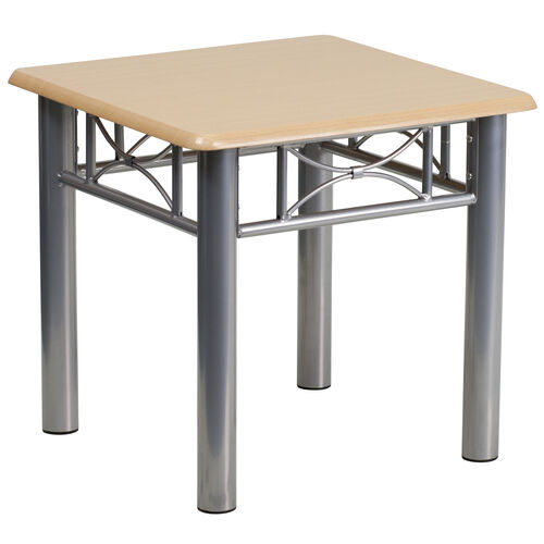 Our Natural Laminate End Table with Silver Steel Frame is on sale now.